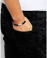 Jack & Jones | Brown Leather & Cotton Bracelet for Men | Lyst