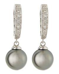 Belpearl | Metallic South Sea Pearl & Diamond Earrings | Lyst