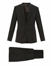 Dolce & Gabbana | Black Goldfit Singlebreasted Wool Suit for Men | Lyst