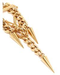 Ela Stone - Metallic 'Pamela' Curb Chain Spike Drop Earrings - Lyst