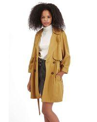 TOPSHOP - Yellow Vintage Duster Coat - Lyst
