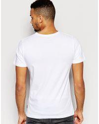 Jack & Jones | White T-shirt With Emroidered Logo for Men | Lyst