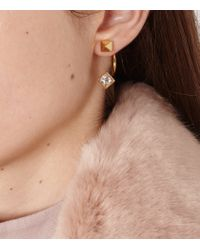 Reiss | Metallic Natalia Swing Earrings With Crystals From Swarovski | Lyst