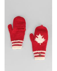 Urban Outfitters - Red Canada Convertible Glove - Lyst