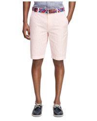 Brooks Brothers | Pink Seersucker Bermuda Shorts for Men | Lyst