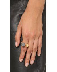 Madewell - Metallic Metal Sphere Ring - Gunmetal - Lyst