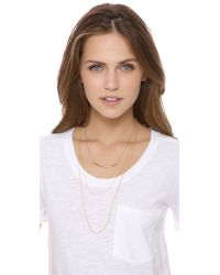 Kristen Elspeth - Metallic Layered Arc Necklace - Lyst