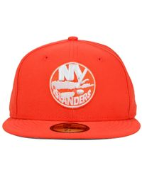 f3a9b40e072 Lyst - Ktz New York Islanders C-dub 59fifty Cap in Orange for Men