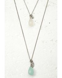 Forever 21 - Metallic Layered Faux Stone Necklace - Lyst