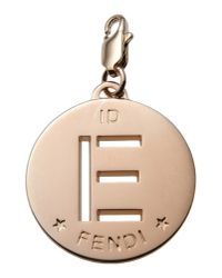 Fendi | Brown Pendant | Lyst