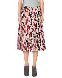 Marni - White Knee Length Skirt - Lyst