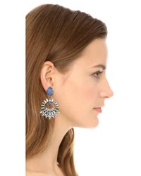 DANNIJO - Metallic Avril Earrings - Ox Silver/crystal/italian Yves - Lyst