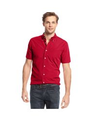 4e988e18fd87 Lyst - Tommy Hilfiger Maxwell Shirt in Red for Men