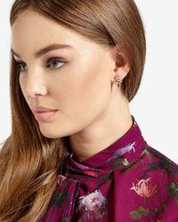 Ted Baker | Multicolor Jewelled Arrow Drop Earrings | Lyst