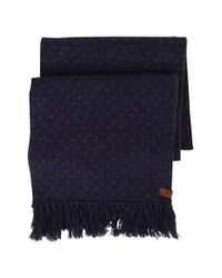 Ben Sherman | Blue Micro Dot Knit Scarf for Men | Lyst