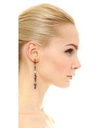 Iosselliani - Metallic Multi Stone Gunmetal Earrings - Lyst