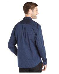 Elie Tahari - Blue Navy Cotton Calinda Stripe 'steve' Shirt for Men - Lyst