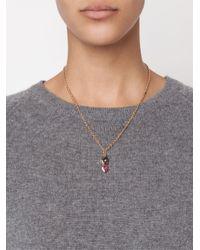 Irene Neuwirth - 18kt Rose Gold And Pink Tourmaline Pendant - Lyst