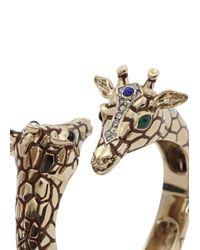 Roberto Cavalli | Metallic Gold Plated Swarovski Embellished Cuff | Lyst