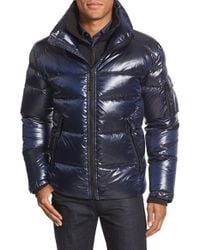 Sam. | Gray 'racer' Quilted Down Jacket for Men | Lyst