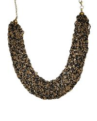 Pull&Bear | Pull Bear Necklace with Gold Black Beads | Lyst