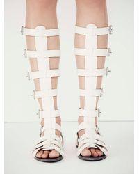 Free People - Gray Republik Vegan Gladiator Sandals - Lyst