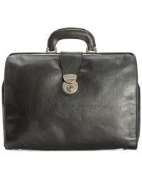 Patricia Nash   Black Nash Men's Heritage Leather Slim Briefcase for Men   Lyst