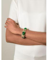 Moschino - Metallic Cabochon Bracelet - Lyst
