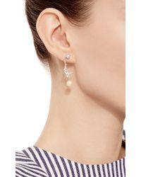 Marc Alary - White Micro Monkey Drop Earrings - Lyst
