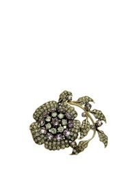 L'Inde Le Palais - Metallic Small Flower Brooch - Lyst