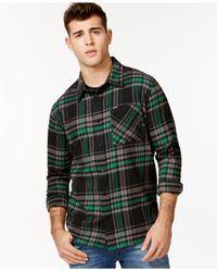 LRG | Green Root Down Shirt for Men | Lyst