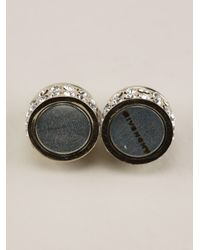 Givenchy - Metallic Crystal Embellished Magnetic Earring - Lyst