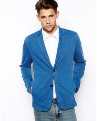 BOSS Orange | Blue Blazer in Jersey for Men | Lyst