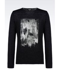 Emporio Armani | Gray Jumper In Virgin Wool for Men | Lyst