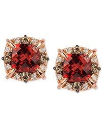 Le Vian - Metallic Petite Collection Garnet (1-3/8 Ct. T.w.) And Diamond (1/4 Ct. T.w.) Stud Earrings In 14k Rose Gold, Only At Macy's - Lyst