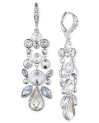 Givenchy | Blue Silver-tone Multi-crystal Earrings | Lyst