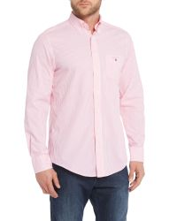GANT - Pink Banker Stripe Shirt for Men - Lyst
