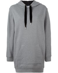 T By Alexander Wang - Gray Oversized Hoodie - Lyst