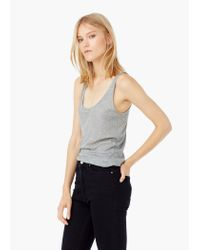 Mango - Gray Modal Top - Lyst