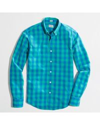 J.Crew | Blue Factory Slim Washed Shirt in Double Gingham for Men | Lyst
