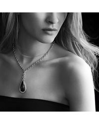 David Yurman - Black Anjou Necklace With Diamonds - Lyst