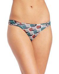 Beautiful Bottoms - Multicolor Reverse Ruched Bikini Bottom - Lyst