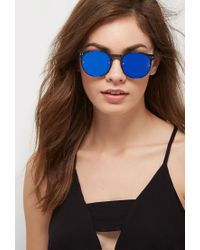 Forever 21 - Blue Spitfire Post Punk Sunglasses - Lyst
