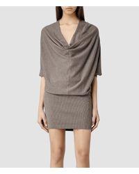 AllSaints | Brown Elgar Jumper Dress | Lyst