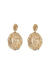 Aurelie Bidermann | Metallic Vintage Lace Earrings | Lyst