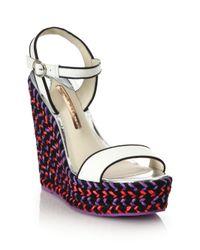 Sophia Webster - Multicolor Lucita Leather Espadrille Wedge Sandal - Lyst