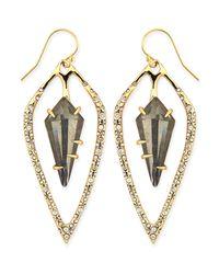 Alexis Bittar | Gray Lucite, Swarovski Crystal & 10k Yellow Gold Drop Earrings | Lyst
