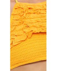 Suboo - Orange Castaway Crochet Bikini - Mustard - Lyst
