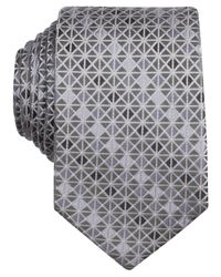 Perry Ellis | Gray Griffin Geo Slim Tie for Men | Lyst