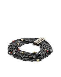 David Yurman | Metallic Sixteen-row Chain Bracelet | Lyst